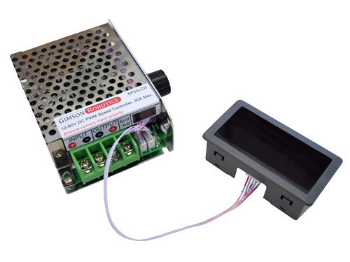 PWM DC Speed Controller 30A 12-60V with LCD Display