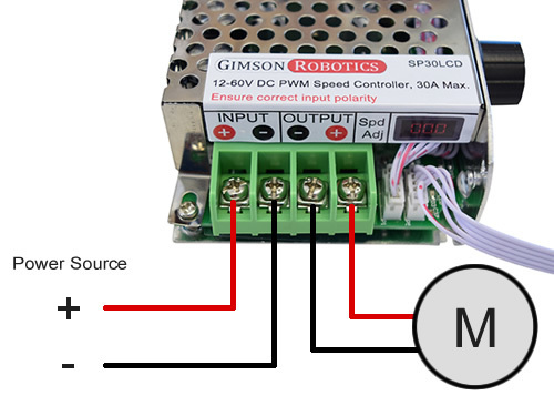 12v 24v 36v 20a 30a dc pwm speed controller electronic brushed motor control example wiring input output