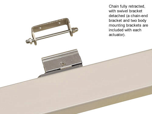 Gca350 chain compact linear extend actuator window vent opener 24v dc electric retracted swivel2