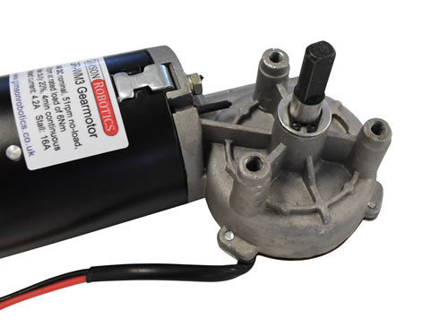 Gr wm3 24v dc electric worm motor right angle high torque 51rpm slow drive window shaft