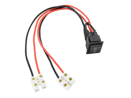 High power dpdt rocker switch wired harness dc motor actuator control silicone leads screw terminals top