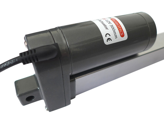 Gla1000 1000n 12vdc linear actuator motor closeup cable