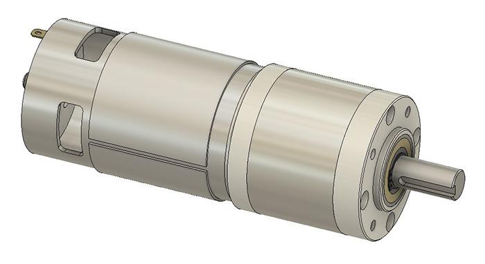 GR-EP-56 12V DC electric motor CAD render overview
